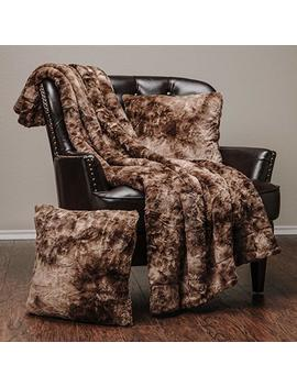 """Chanasya Faux Fur Throw Blanket 