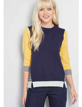 Parcel Of Surprise Colorblock Sweater by Modcloth