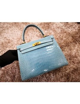 Toppest Level Quality High Glossy Real Genuine Crocodile Skin Women Tote Shouder Bag Contrast Colors Customized Order Offered by Anos Skin