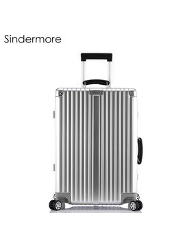 """Sindermore 20""""24""""26""""28"""" Vintage Rolling Hardside Luggage Travel Suitcase With Wheels Leather Handles Custom Laser Engraving by Sindermore"""