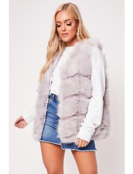 Clarissa Grey Faux Fur Gilet by Misspap