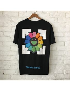 Youth Codes Vintage Floral T Shirt Arrow Box Logo T Shirts Men Women Sunny Sunflower Smile Tee Cotton Fashion Fuuny Joker T Shirt by Youth Codes