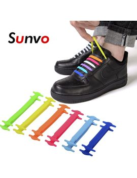12pcs No Tie Silicone Shoelaces Elastic Waterproof Shoe Laces Replacement For Sneakers Boots Lazy Easy Off White Accessories  by Sunvo