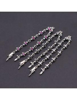 Starfield S925 Sterling Silver Jewelry Men Women Thai Silver Cross Diamond Bracelet&Bracelet Homme by Starfield