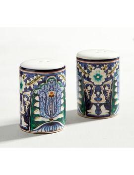 Mezze Salt & Pepper Shakers   Blue by Pottery Barn