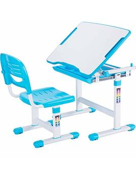 Vivo Height Adjustable Children's Desk And Chair Set, Blue by Vivo
