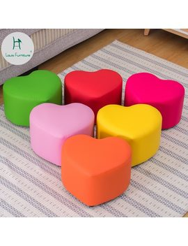 Louis Fashion Stools Ottomans Creative Shoes Children Living Room Sofa Tea Table Stool Heart Shaped Household Peels by Louis Fashion