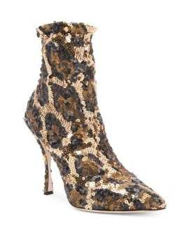 Sequined Leopard Booties by Dolce & Gabbana