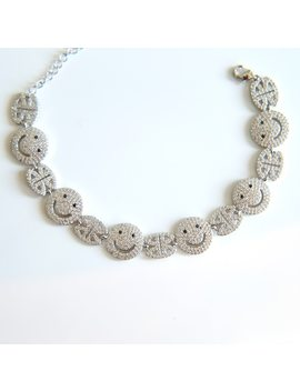 Silver Gold Colors A Smiley Face Charm Bracelets For Women Simple Femme Silver Colors Jewelry Pulseira Feminina by Sdzstone