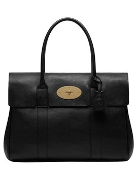 Bayswater Black Natural Leather Is Tanned Using A Natural Vegetable Tanning Technique. The Soft Leather Retains The Individual Grain Of Shoulder Bag by Mulberry