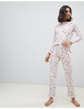 Vero Moda – Pyjamahose Mit Weihnachtlichem Zuckerstangen Design by Asos
