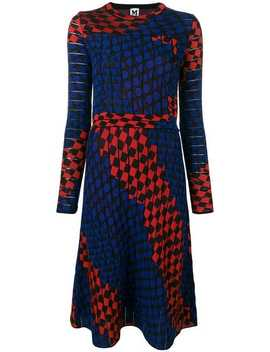 Jacquard Knit Geometric Dress by M Missoni