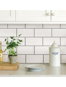 White Subway Peel Stick Backsplash Tiles by Wall Po Ps