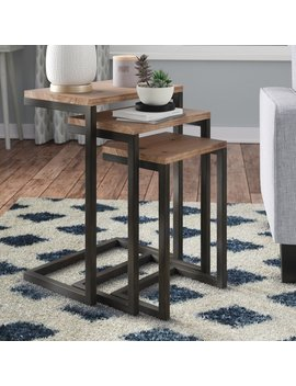 Mercury Row Cetus 3 Piece Nesting Tables & Reviews by Mercury Row