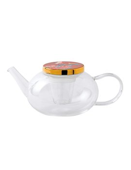 Wedgwood Paeonia Blush 33.8  Qt Glass Teapot by Wedgwood