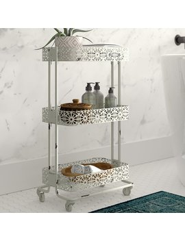 "Mistana Skipworth Pierced 17"" W X 29.5"" H Bathroom Shelf & Reviews by Mistana"