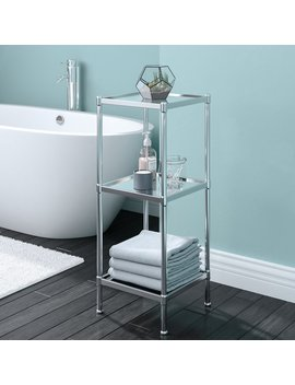 "Rebrilliant Glacier 13.25"" W X 33.75"" H Bathroom Shelf & Reviews by Rebrilliant"