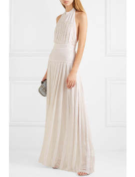 Pleated Sequined Chiffon Gown by Temperley London