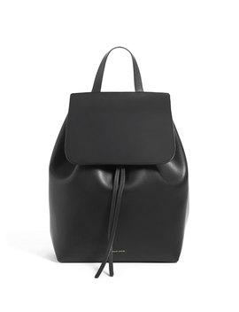 Leather Flap Top Backpack, Black/Red by Mansur Gavriel