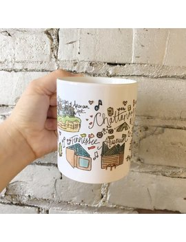 Chattanooga, Tennessee Handlettered Watercolor Gift Mug by Etsy