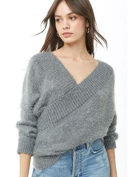 Fuzzy Open Back Sweater by Forever 21