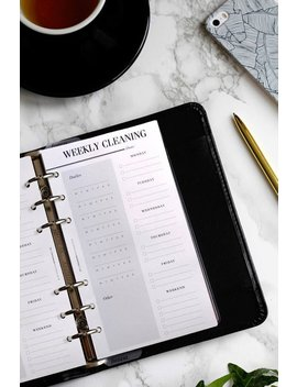 Printed Weekly Cleaning Schedule | Printed Personal Planner Refill, Cleaning Checklist, Cleaning Planner Pages, Websters Color Crush Inserts by Etsy