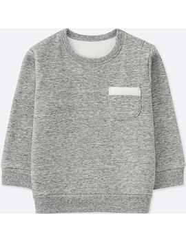Babies Toddler Sweatshirts Long Sleeve Pile Lined by Uniqlo