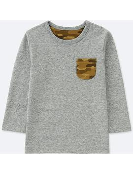 Babies Toddler Crew Neck Long Sleeve T Shirt by Uniqlo