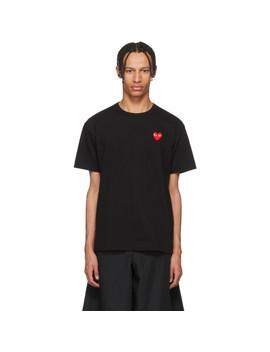 T Shirt Noir Heart Patch by Comme Des GarÇons Play
