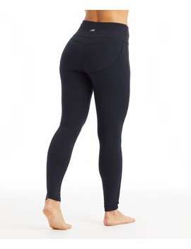 Black Camille Butt Booster Leggings   Women by Zulily