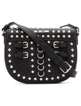 Studded Saddle Bag by Love Moschino