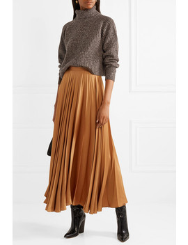 Dickie Oversized Cropped Mélange Cashmere Turtleneck Sweater by The Row
