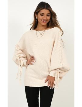 Sweet November Knit Jumper In Beige by Showpo Fashion