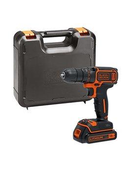 Black+Decker Bdcdc18 K Gb 18 V Drill Driver With Kitbox, 18 V, Black/Orange by Black+Decker