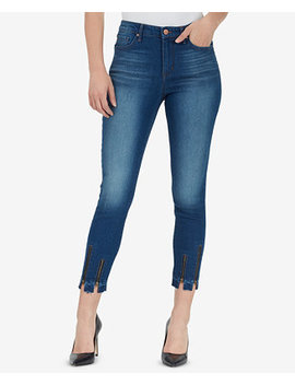 High Rise Sculpted Zip Ankle  Skinny Jeans by William Rast
