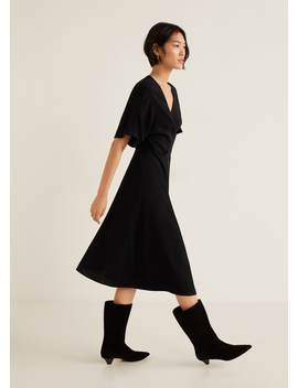 Fringed Belt Dress by Mango