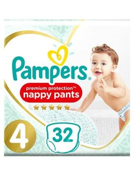 Pampers Size 4 Active Fit Pants 9 15 Kg 32s Nappies by Pampers