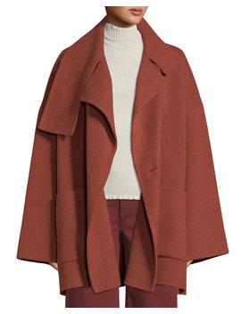 Oversized Wool Blanket Coat by Vince