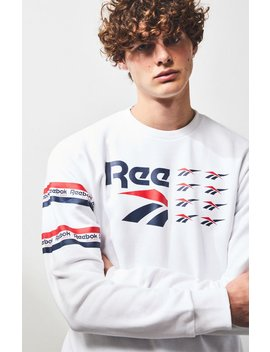 Reebok All Over Vector Crew Neck Sweatshirt by Pacsun