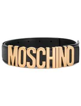 Lettering Logo Belt by Moschino