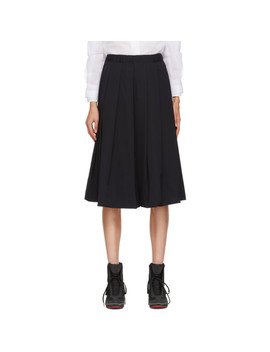 Navy Box Pleat Skirt by Comme Des GarÇons
