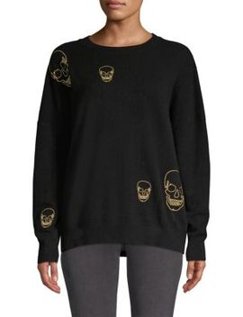 Metallic Skull Cashmere Sweater by 360 Cashmere