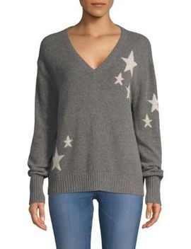 Jayla Cashmere Lurex Star Sweater by 360 Cashmere