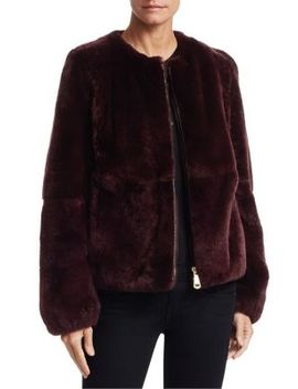Rabbit Fur Bomber Jacket by Julia & Stella