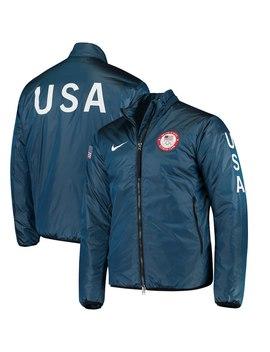 Team Usa Nike Lab 2018 Olympics Midlayer Jacket – Blue by Nike