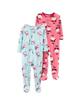 Microfleece Footed Blanket Sleeper, 2 Pack (Baby Girls & Toddler Girls) by Child Of Mine By Carter's