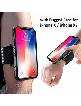 I Phone X Armband, Sportlink I Phone Xs Sports Wristband With Dual Layer Rugged Case, Easy Mount Phone Holder For Running Jogging Gym Exercise Workouts (Black) by Sportlink