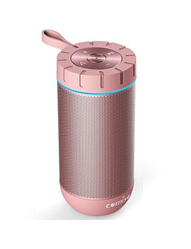 Comiso Waterproof Bluetooth Speakers Outdoor Wireless Portable Speaker With 24 Hours Playtime Superior Sound For Camping, Beach, Sports, Pool Party, Shower (Rose Gold) by Comiso