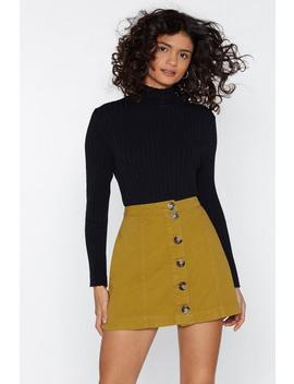 It Button Hurt Denim Skirt by Nasty Gal