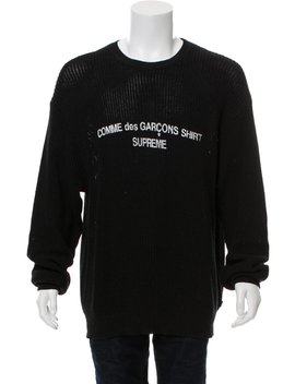 Open Knit Sweater by Comme Des Garçons Shirt X Supreme